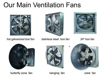 large 53 inch ventilation fan for broiler cage house