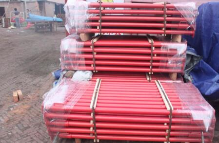 Aluminum alloy formwork for building construction with round and wedge