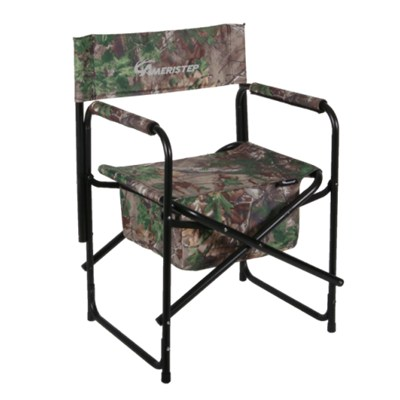Favoroutdoor Camo Pattern Folding Director Chair With Large Zippered Gear Pouch
