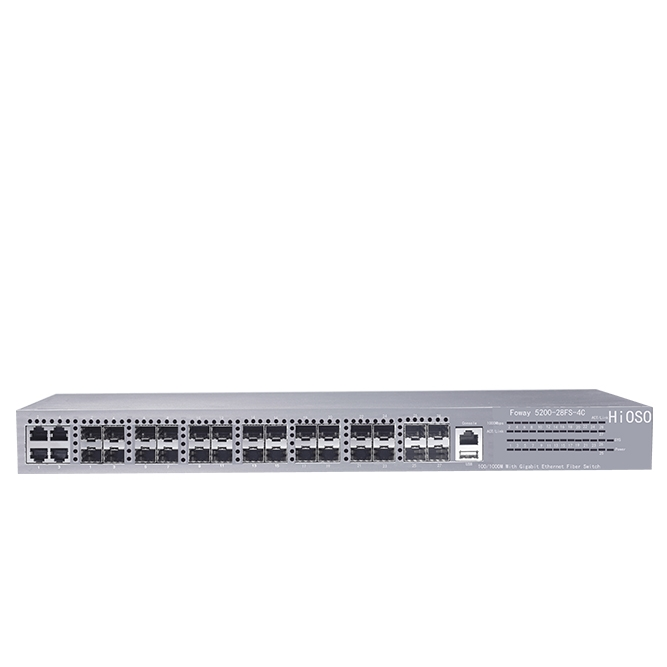 Gigabit 24 ports SFP fiber Switch with 4 Combo uplink