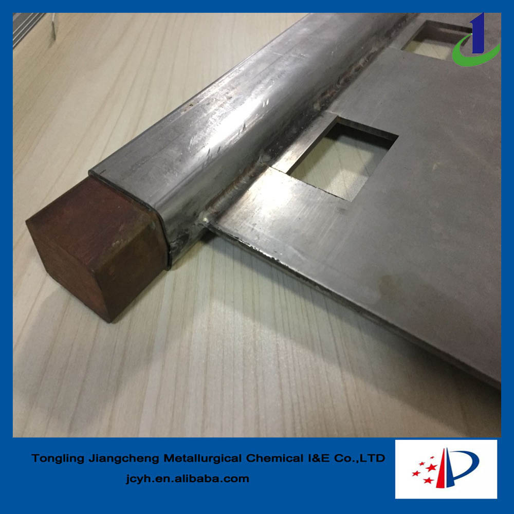 Copper refining using cathode plate