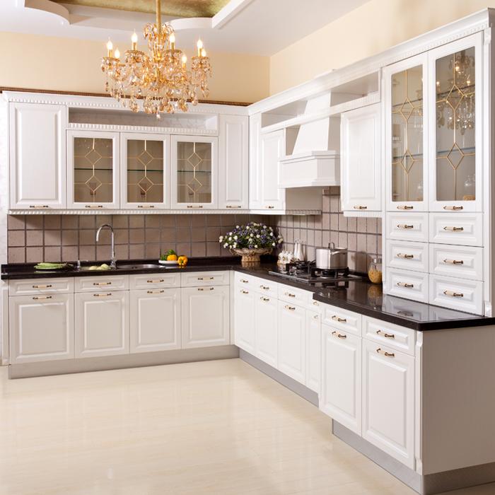 Kitchen Furniture Melamine Chipboard Kitchen Cabinet/American Style Melamine Board Kitchen