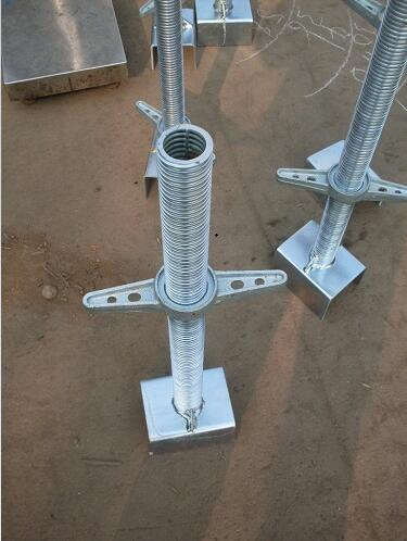 Q235 For Welded Pipe Jack Base adjustable scaffolding leg
