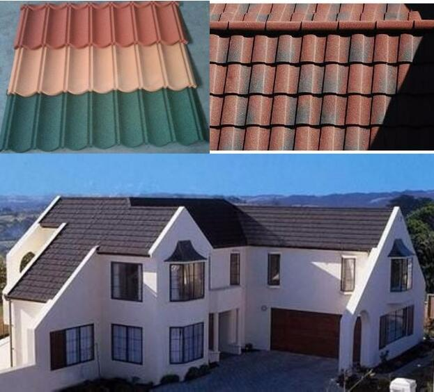 roofing tile companies/prices/types/brands/for sale Good building materials Corrugated Sheet Stone Coated Roofing Tile