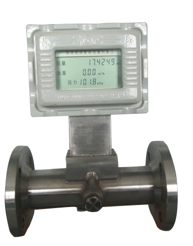 High pressure gas turbine flowmeter/Integration/With liquid crystal display/With temperature and pressure compensation/With signal output/Metering coal gas/Metering natural gas/
