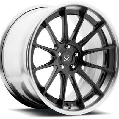 Multiple Spoke & Gloss Black Center 2 Piece Forged Wheels
