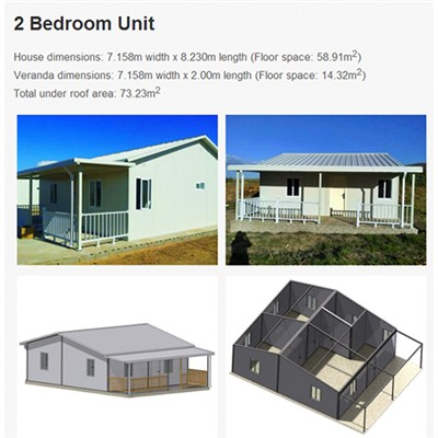 Prefabricated Light Steel A-frame Modular Kit Houses Luxury South Africa