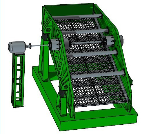 mining circular round vibrating screen classifying separator for mineral processing