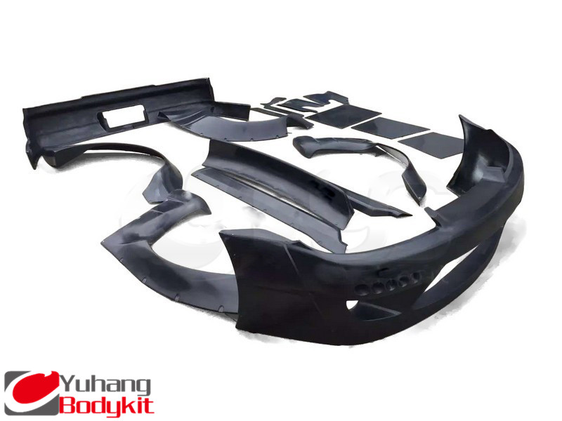 Car-Styling Fiber Glass FRP Bodykit Fit For 99-02 S15 Silvia Rocket Bunny Style Body Kits Bumper Fender Skirts Spoiler Diffuser