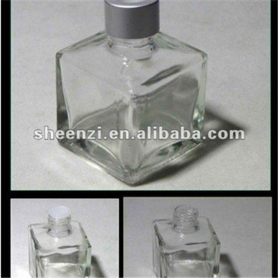 100ML Square Aroma Diffuser Glass Bottle With Aluminum Cap