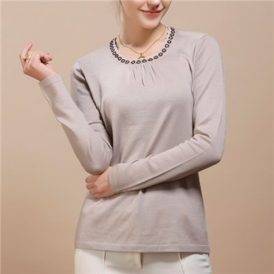 Fashional Hot Sale Women Cartoon Design Round-neck Embroidered Pullovers