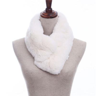 Long Girl Warm And Soft Double Sided Fleece Faux Rabbit Fur Scarves