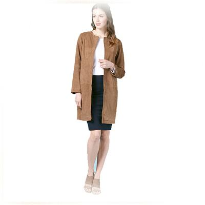 Women Suede Coat New Brand Autumn Spring Women Outwear Casual Slim Cardigan Plus Size