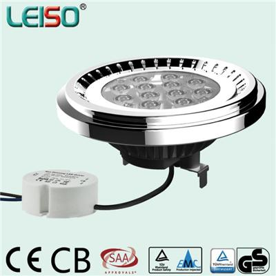LEISO Classic Design 12.5W G53 Base LG Or Nichia Chip Warm And Cool White 80Ra External Drive AR111 LED Light Bulbs -best Selling