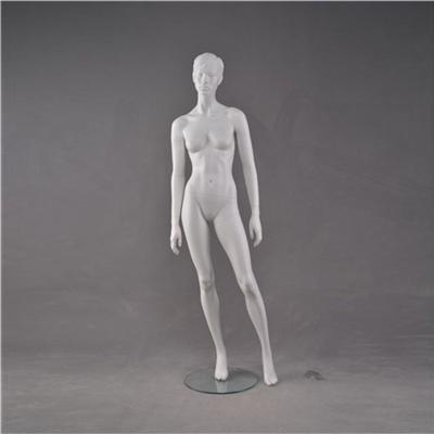 Matt White Stylized Head Mannequin Female