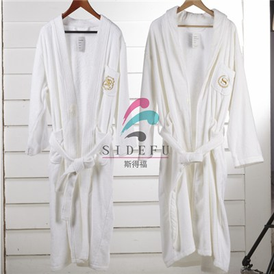 High Quanlity 100% Cotton Bathrobe For Hotel