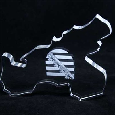 Wedding Souvenirs Crystal Map Trophy