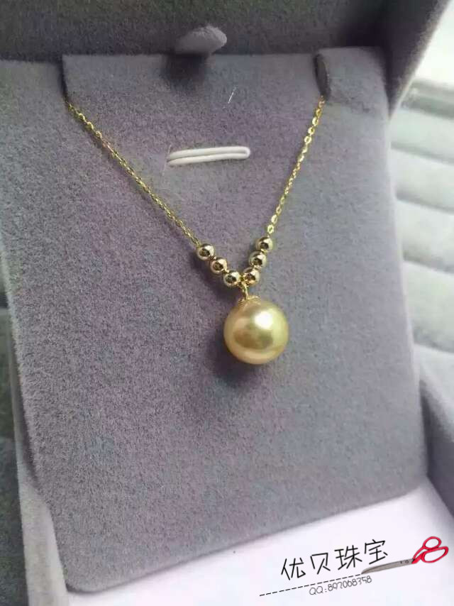G18 sea pearl Golden Pear pendant
