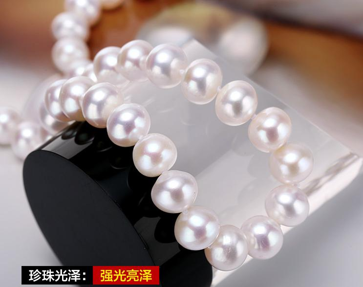 925  Sliver  freshwater button pearl necklace
