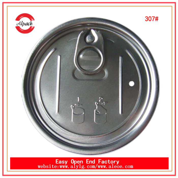 307# aluminum easy open end for food canning