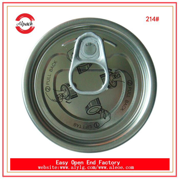 214# tinplate easy open end