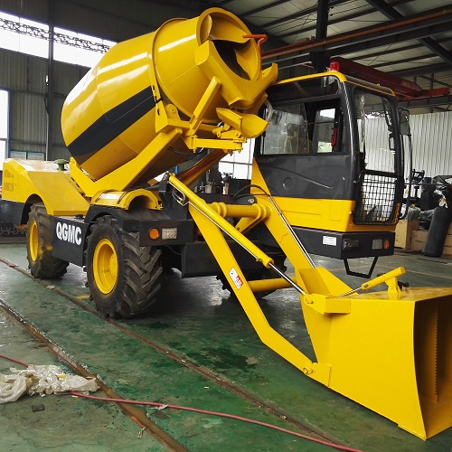 SINOMIX mobile concrete mixing transporting truck with self loading bucket/2017  best-selling new products/rough terrain mobile concrete mixer