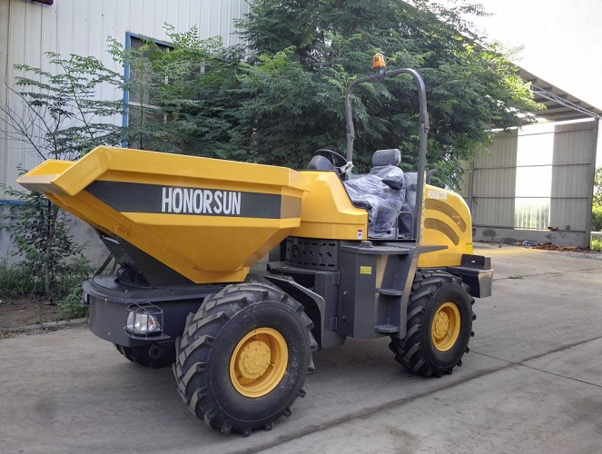 mini terex site dumper with 3-6 ton loading with optional 180 degree swivel and self-loading fuction with CE approved
