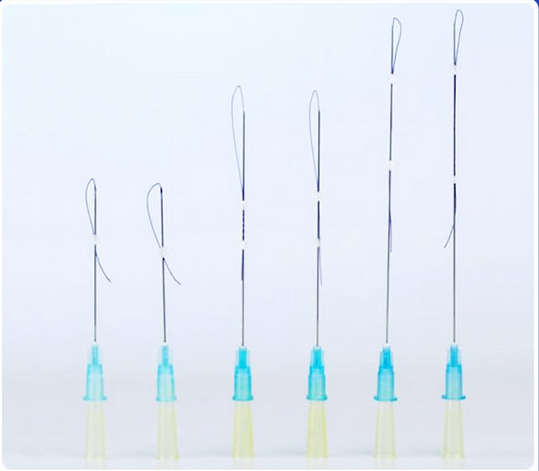 PDO Thread Lift Face Screw Sutures Needle