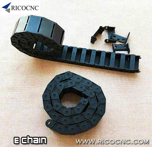 Cable E Chain Wire Drag Carrier Chain with Mounting Bracket End for CNC Machines