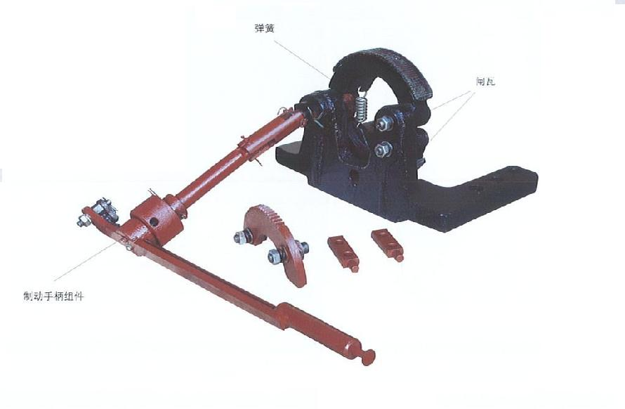 brake device for electric locomotive spare part for mining locomotive