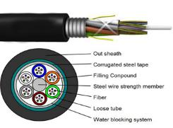 Outdoor Optical Fiber Cable  Standard Loose Tube Armored Cable