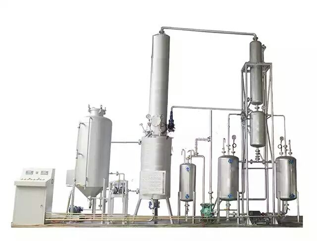 extreme negative pressure waste oil distillating device
