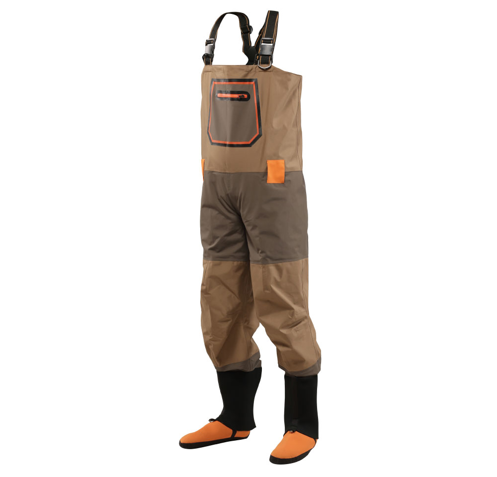 4 layer fabric best breathable waterproof chest stocking foot waders