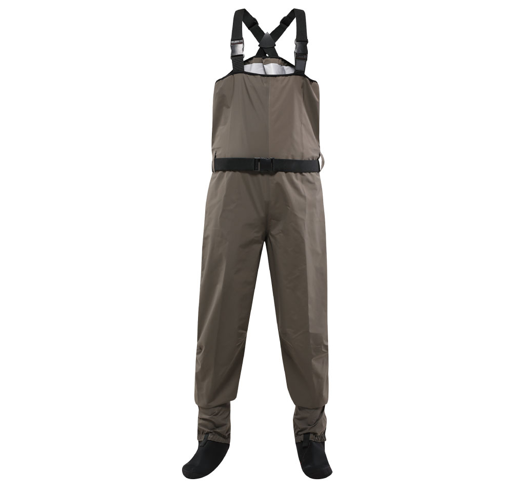 3 layer light weight fabric breathable waterproof chest stocking foot fly fishing waders