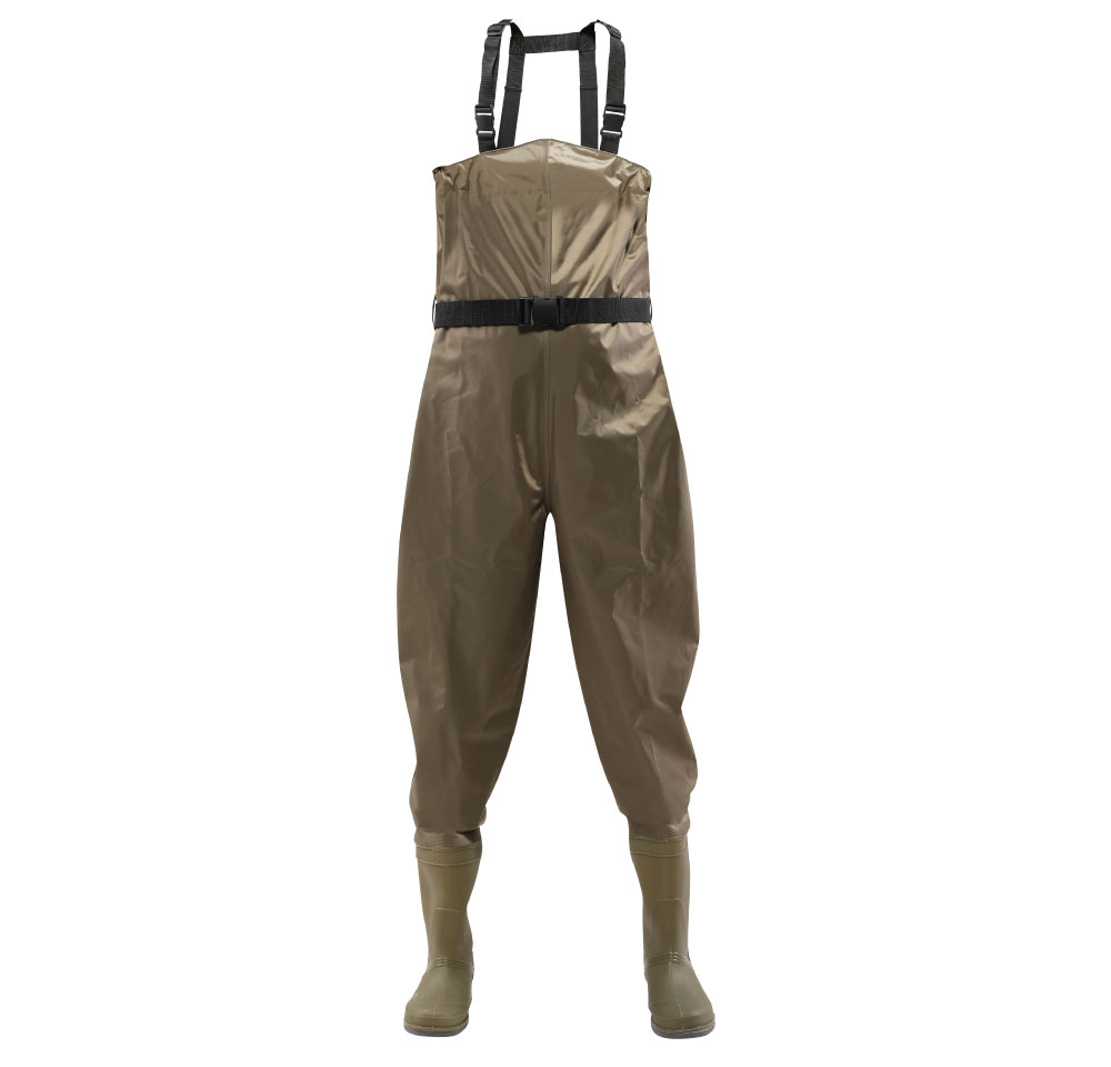 70D nylon light weight chest PVC fishing waders