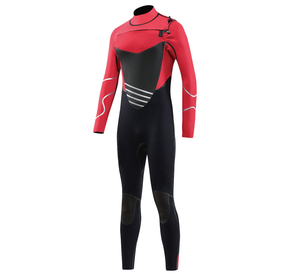 3/4mm supper stretch upper zipper entry system neoprene scuba full body wetsuit
