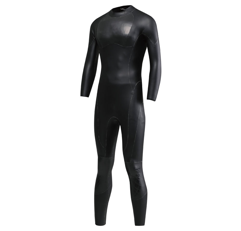3/4mm triathlon smooth skin neoprene swimming wetsuit