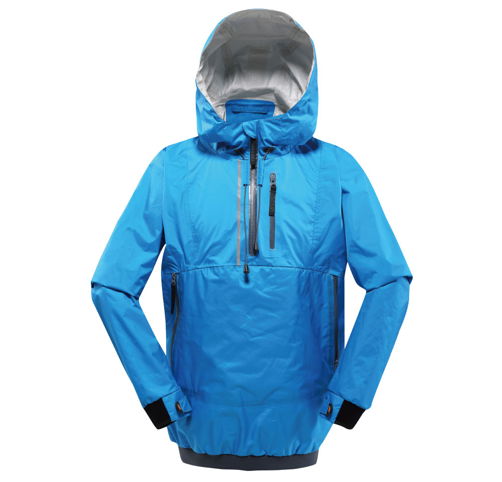 3 layer breathable and waterproof dry jacket garment for kayak paddling