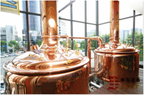 Copper beer brewery equipment 1000L, draft brewery equipment
