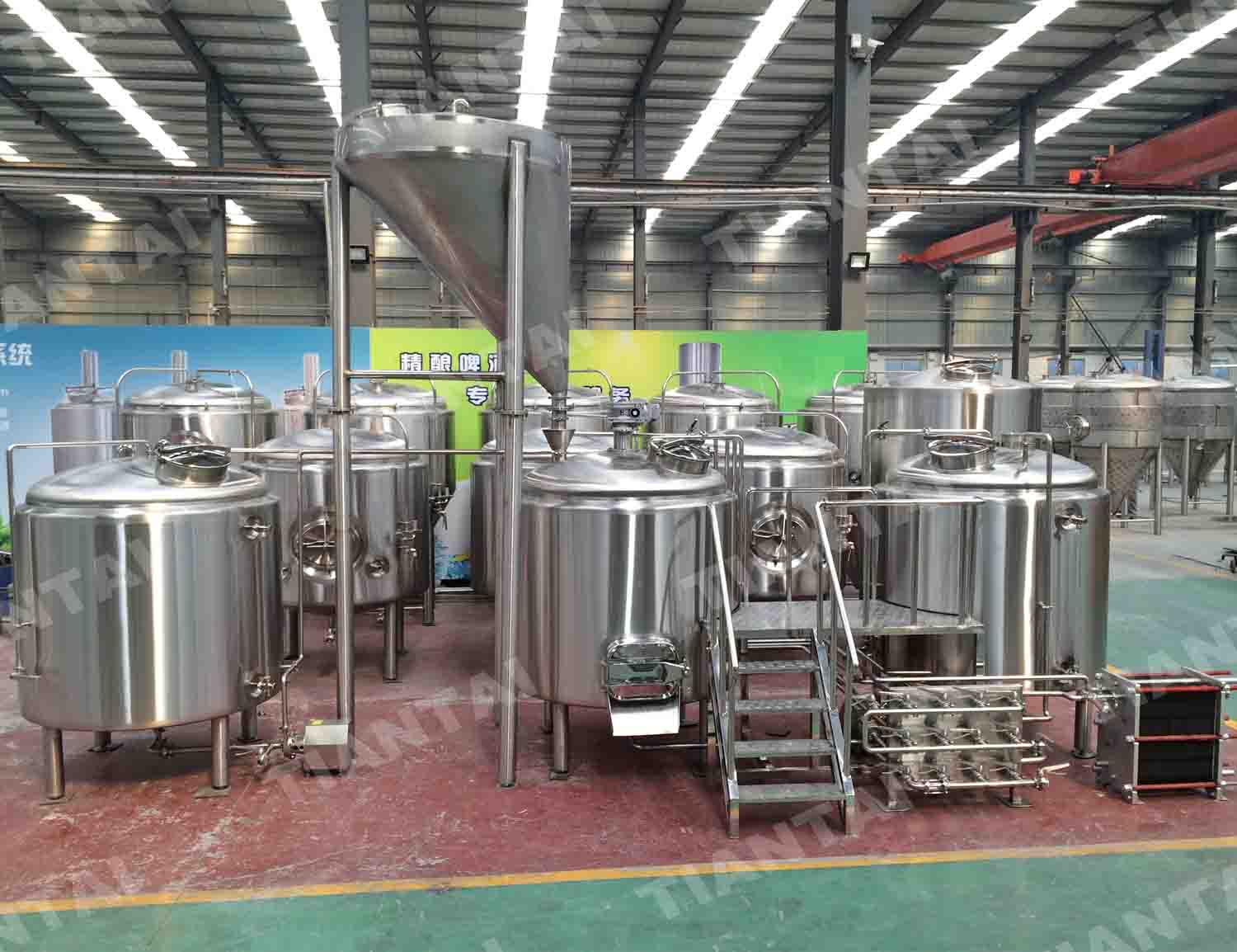 3500L Stainless Steel brewhouse system