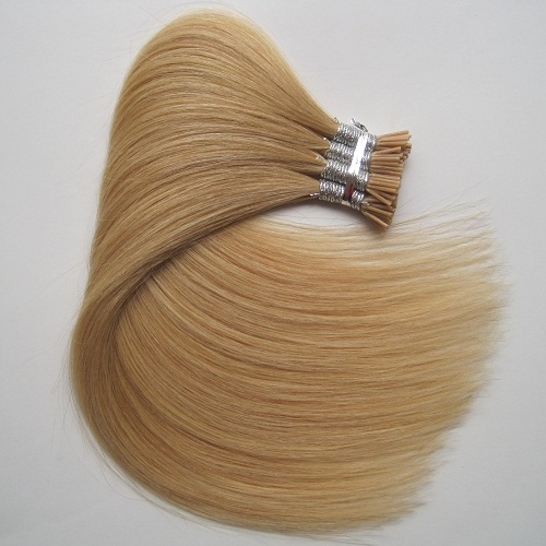Top quality double drawn 100% human hair italy keratin stick i tip hair extension wholesale