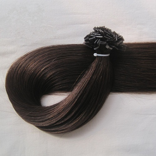 Tangle free 100% human hair pre bonded flat tip hair extension