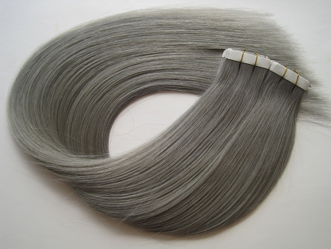 No shedding no tangle double drawn silky straight 100% human hair tape in hair extension