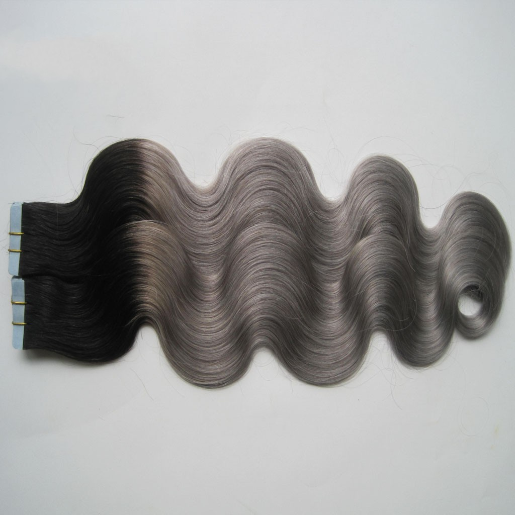 Double drawn thick body wave 100% human hair wholesale cheap curly tape hair extensions