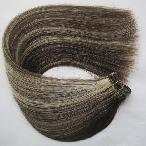 No shedding silky straight piano color cheap 100% human hair weaving