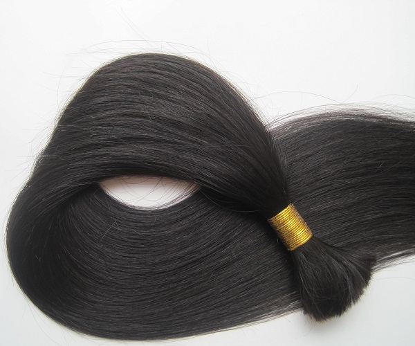 Tangle free top grade brazilian hair 100% human hair bulk