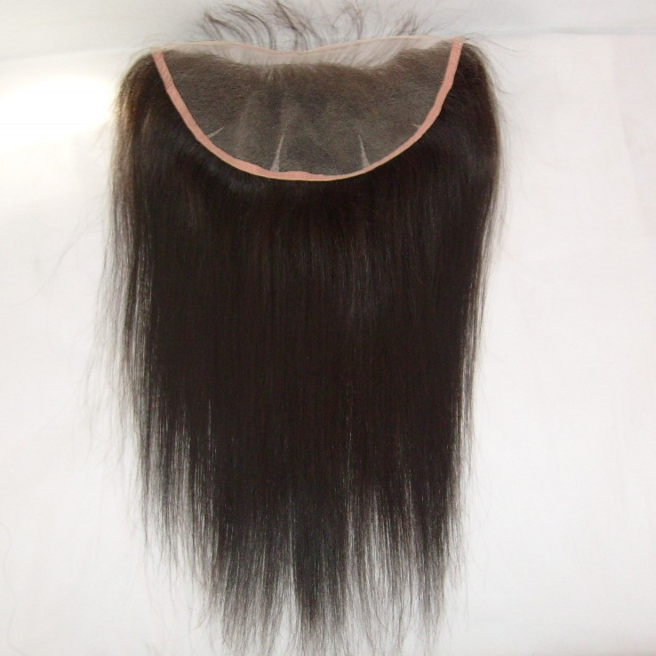 Highest quality brazilian human hair ear to ear 360 lace frontal piece 13x4 Lace Frontals With Baby Hair Straight, Body Wave, Curly In Stock