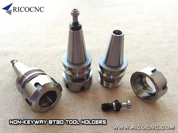NBT30 ER32 Collet Chuck without Keyway Tool Holder Cone with Pull Stud and Collet Nut