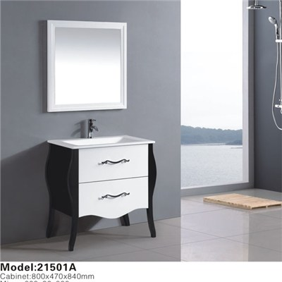 Customize Design European Style Solid Wood Bathroom Cabinet For Hotel