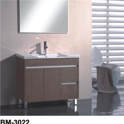 Wall Mounted MDF Or Plywood Faced Melamine Bathroom Vanity Cabinet
